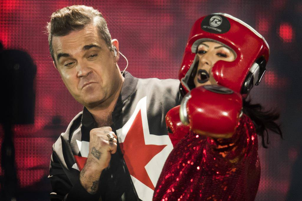 Robbie Williams im Letzigrund (© KEYSTONE/Ennio Leanza)