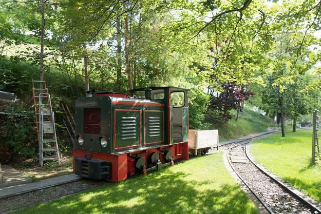 Die Bergwerkbahn ist wieder intakt.