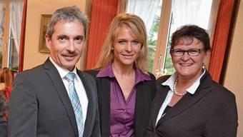 Die drei Grossräte Daniel Urech, Nicole Müller-Boder und Milly Stöckli (von links) an der SVP-Wahlfeier im «Engel» in Muri nach den letzten Grossratswahlen. Vom SVP-Trio tritt Stöckli heuer nicht mehr an.
