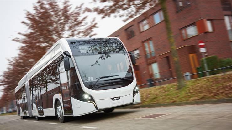 18 Meter lang und voll elektrisch: der künftige Testbus der BVB.