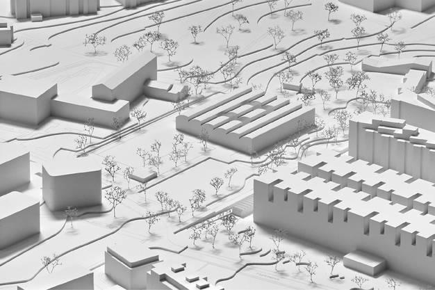 Situationsmodell der Schulanlage Freilager