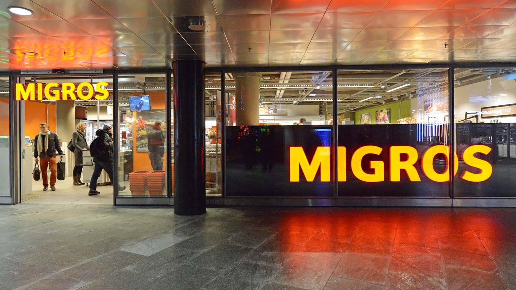 Migros Bahnhof Luzern Untergeschoss_Eingang
