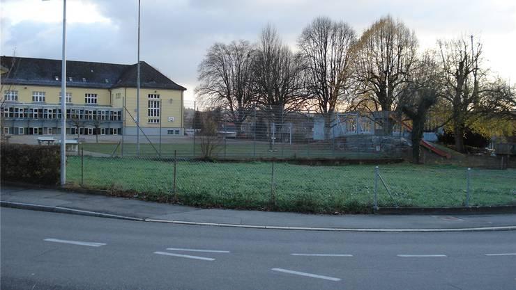 Vorgesehener Pavillonstandort Bereich Rössligasse/Rotbleicherain. zVg