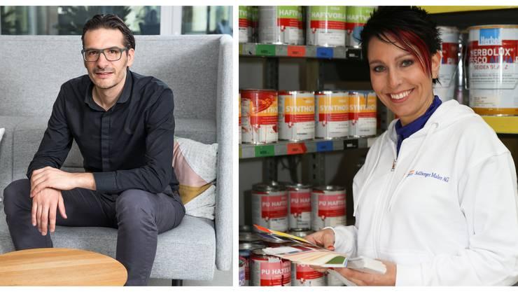 Zwei Unternehmer, zwei Welten: Gerhard Andrey (Grüne) und Sandra Sollberger (SVP)