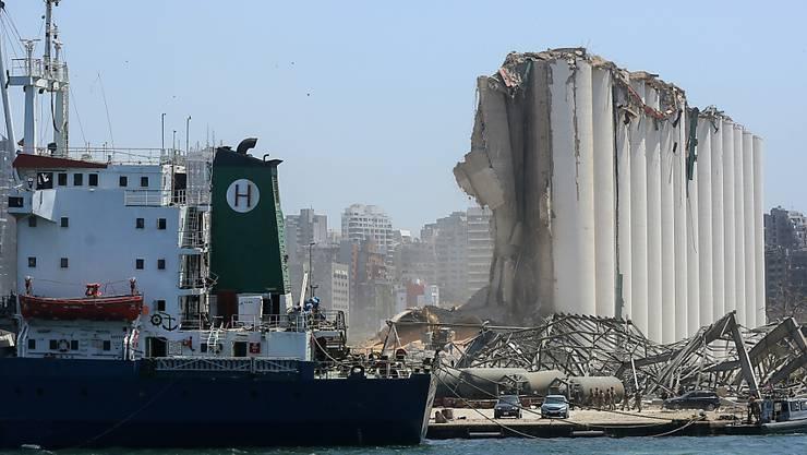 In Beirut sind grosse Mengen Ammoniumnitrat explodiert. Bild: AP/Key