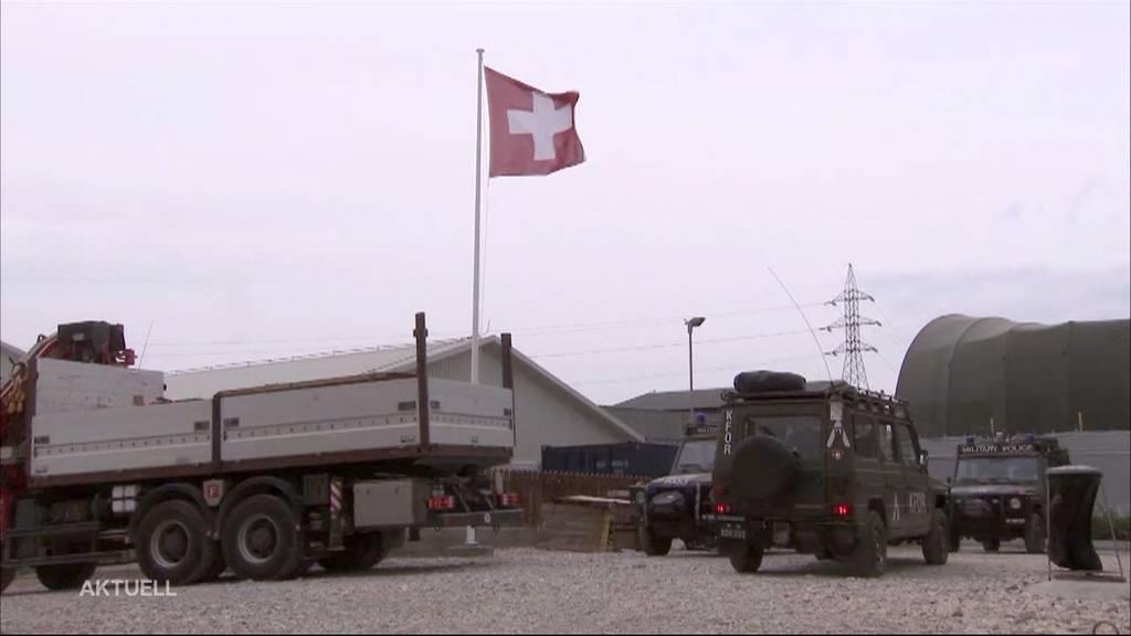Mehr Schweizer Soldaten sollen in Kosovo stationiert werden