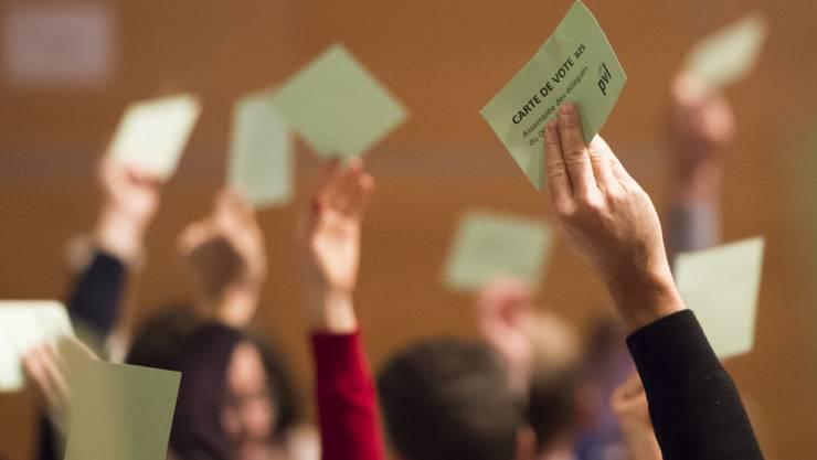 Die Delegierten der Grünliberalen stimmten an der Versammlung in Frauenfeld über vier Abstimmungsparolen ab.