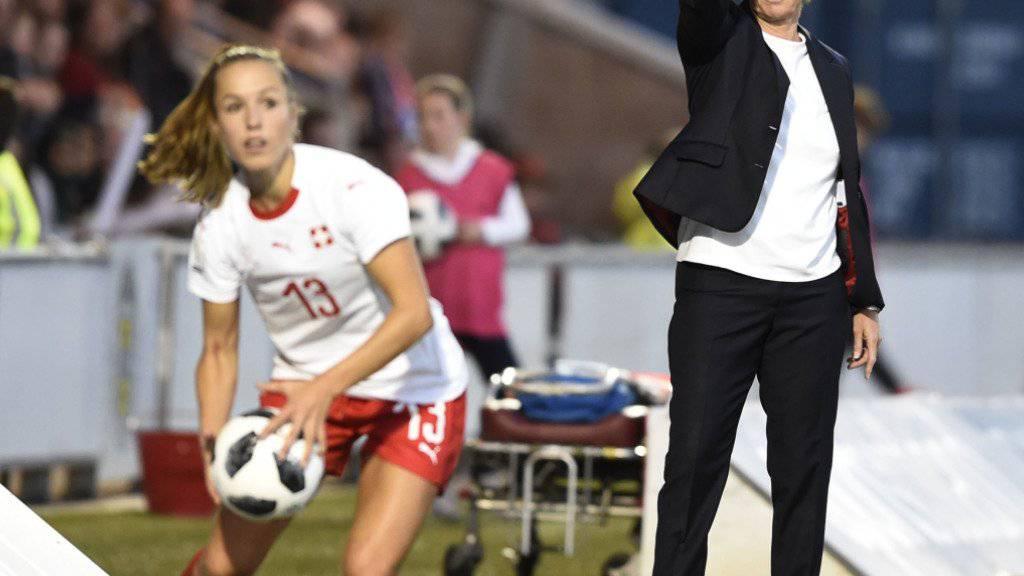 Martina Voss-Tecklenburg betreut die Schweizerinnen auch in den WM-Playoffs