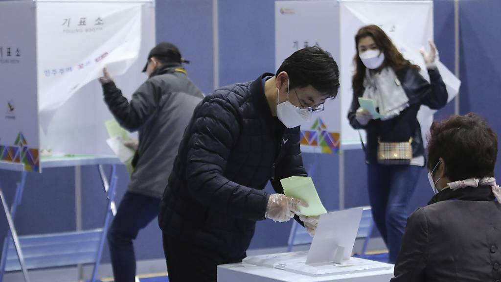 Südkoreas Regierungspartei bei Parlamentswahl auf Siegeskurs
