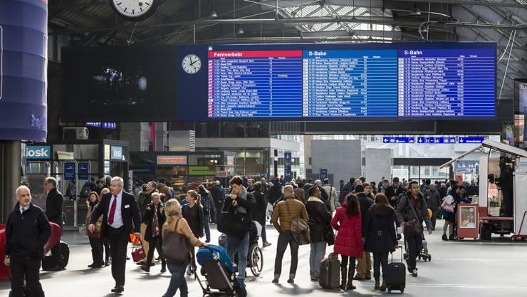 An Silvester war die Polizei im Zürcher Hauptbahnhof präsent. (Archiv)