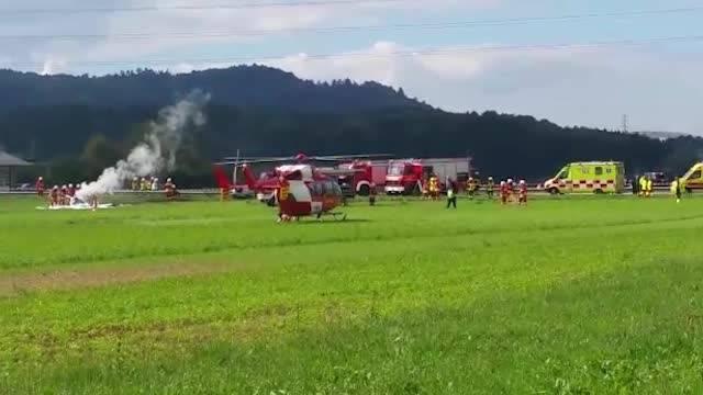 Die Rega brachte den schwer verletzten Piloten ins Spital.