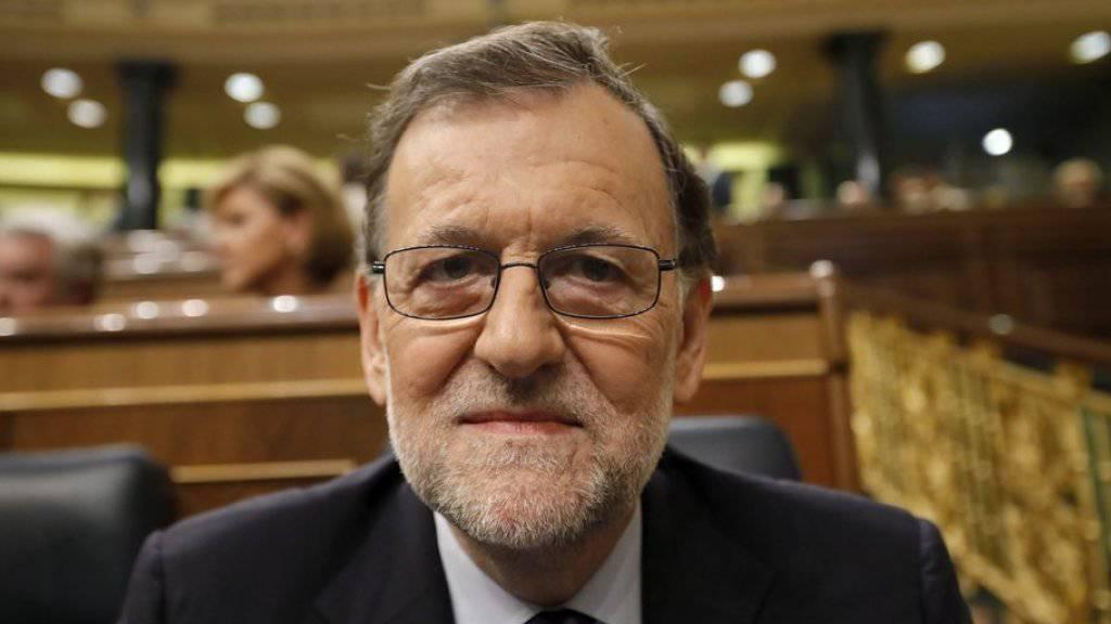 Mariano Rajoy am Freitagabend im Parlament in Madrid.