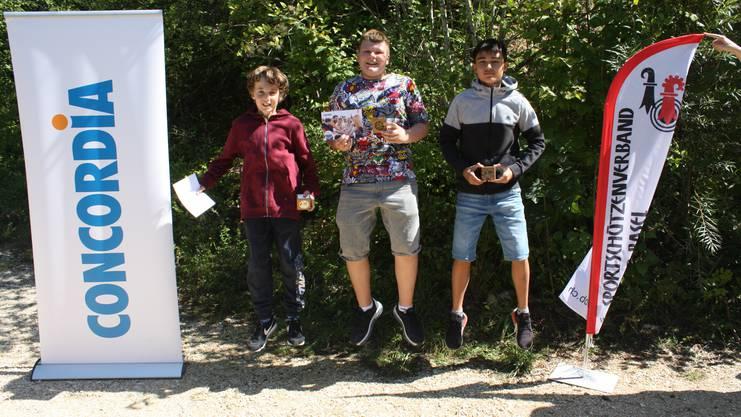 von links Alessio Greiner, Arthuer Kovacs, Julinho Hügli.