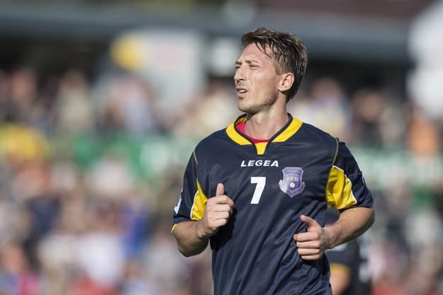 Der Kosovare Kristian Nushi, im Freundschaftsspiel zwischen dem FC Wil und der Kosovarischen Fussballauswahl.