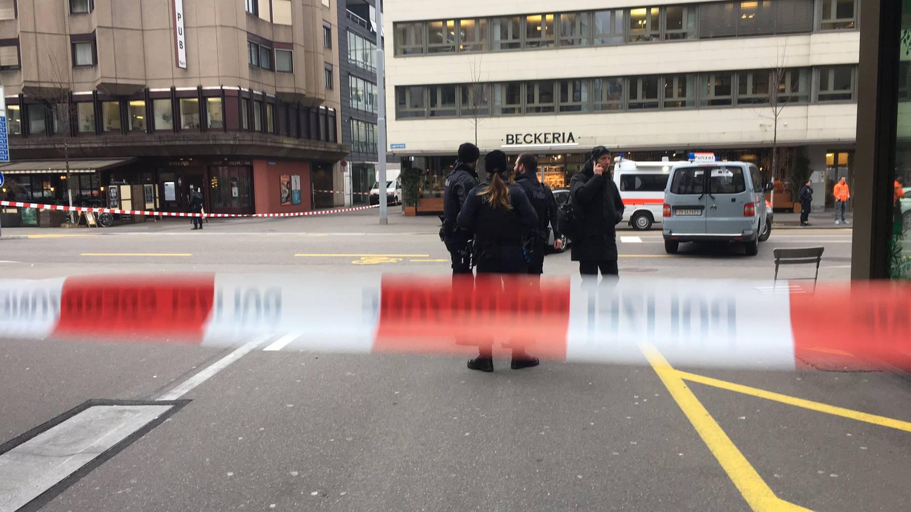 Grossaufgebot der Stadtpolizei Zürich