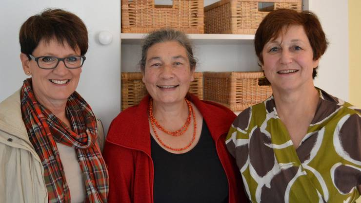 Daniela Berger (Stadträtin Baden, von links), Margaritha Muelli(Vorstandspräsidentin) und Kathie Wiederkehr (Betriebsleiterin).ssu