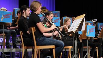 Für ihr Konzert erhielt die Jugendmusik viel Applaus.