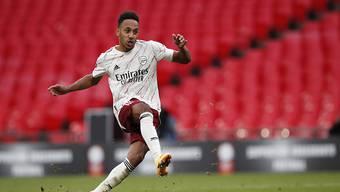 Macht dort weiter wo er aufgehört hat: Pierre-Emerick Aubameyang trifft für Arsenal auch zum Auftakt der neuen Saison