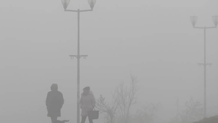 Zehn Tage lang herrschte in Belgrad Dauernebel wegen der Luftverschmutzung. (Archivbild)