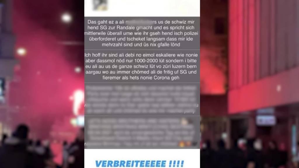 Unruhen in St.Gallen: Stadt bittet Bund um Hilfe