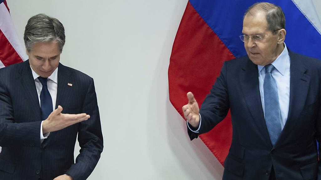 US-Aussenminister Blinken trifft erstmals Lawrow - Sorge um Nawalny