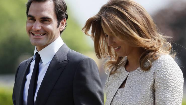 Roger und Mirka Federer - hier im Mai als Gäste der Hochzeit von Pippa Middleton und James Matthew - sind befreundet mit Prinz William und seiner Frau Kate. Jüngst haben sie mit ihren vier Kindern einen Spielnachmittag bei den Royals verbracht.
