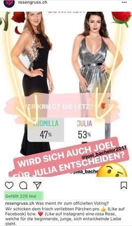 Der Instagram-Post von «Rosengruss.ch» (Screenshot: zVg)