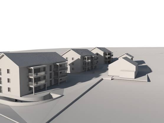 So könnte die neue Überbauung im Dorfkern aussehen.