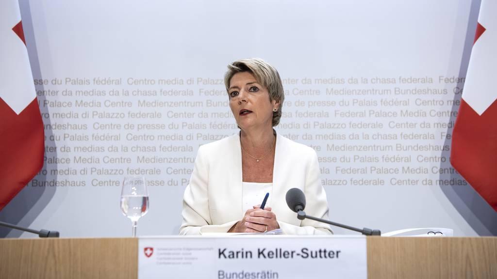 Keller-Sutter warnt: «Es ist jetzt nicht die Zeit für politische Experimente»