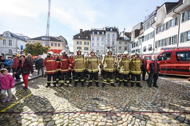 Impressionen der Feuerwehr Hauptübung in Solothurn