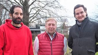 Der Vorstand der neuen Aarauer Piratenpartei: Markus Amsler, Angelo Puma, Dominic Zschokke (v.l.).