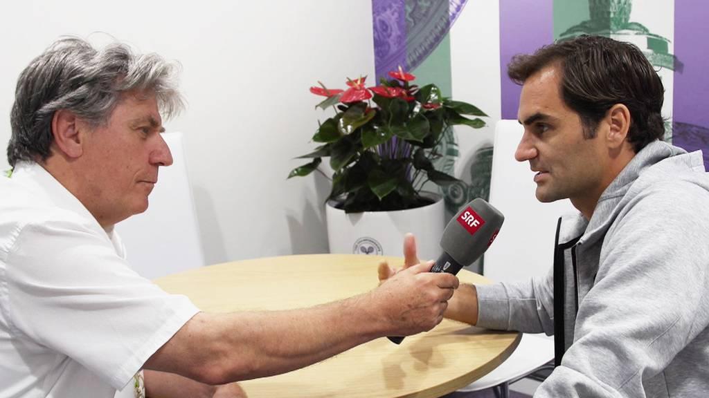 Bernhard Schär mit Roger Federer