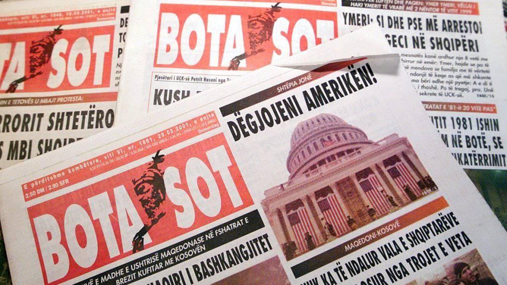 """Der Paketbombenangriff des Angeklagten richtete sich gegen den Chefredaktor der kosovo-albanischen Zeitung """"Bota Sot"""", die von Zürich aus verbreitet wird. (Archivbild)"""