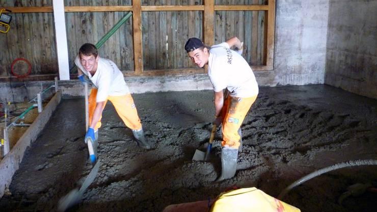 Lukas Gloor und Alex Wyss, Lehrlinge der Firma Astrada