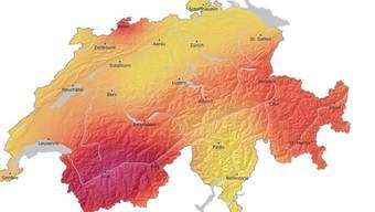 Erdbeben – eine ernstzunehmende Gefahr für die Schweiz. Dies zeigt auch die Gefahrenkarte.