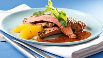 Minuten-Steaks mit Orangen-Pfeffer-Marinade