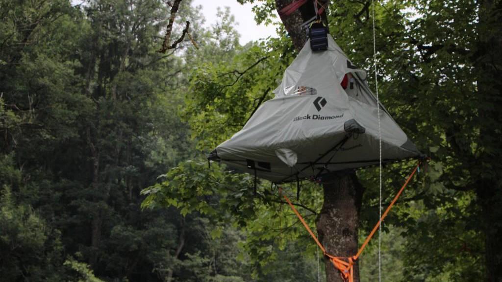 OASG 2018: Das Baum-Zelt im Sittertobel