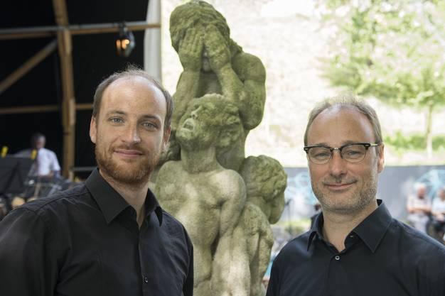 Komponist Benedikt Hayoz (l.) und Dirigent Christian Noth sind beide im Kanton Freiburg aufgewachsen.