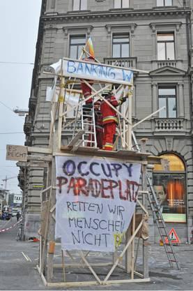 «Occupy Paradeplatz» in Zürich
