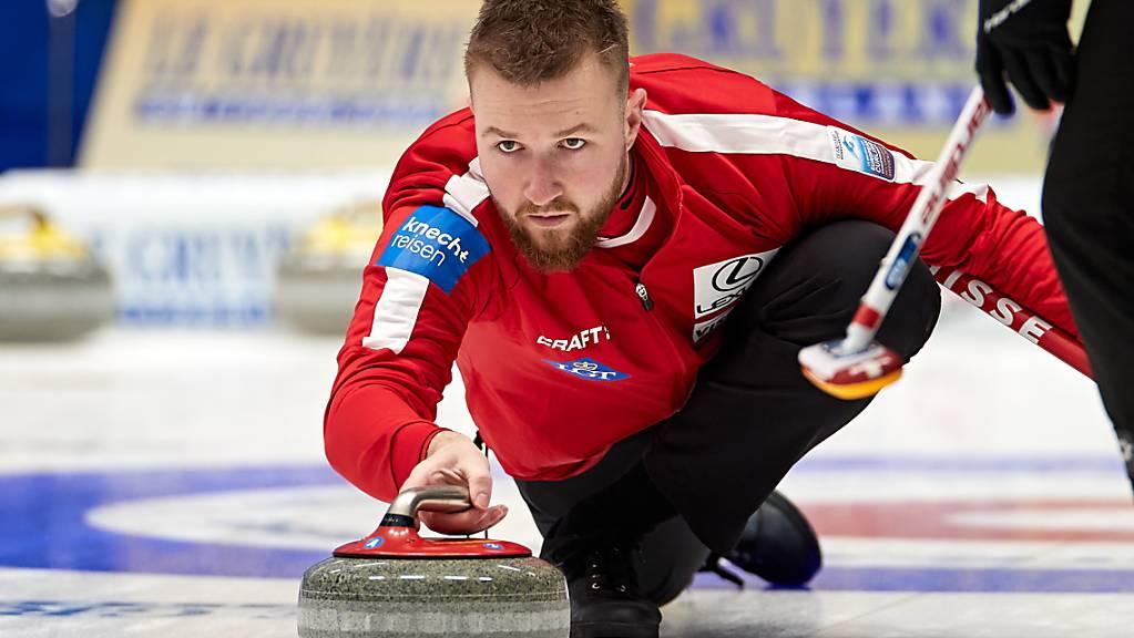 Skip Yannick Schwaller kämpft an den Europameisterschaften um die letzte Chance.