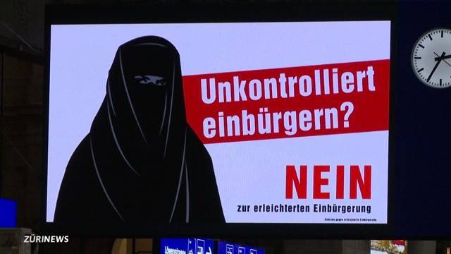 Burka-Plakat schafft Unruhe