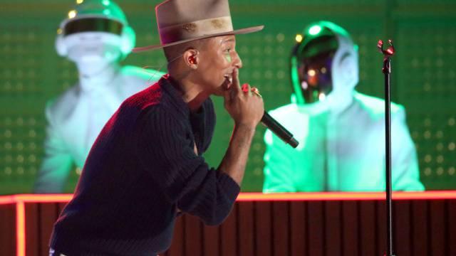 Pharrell Williams und sein bereits berühmter Hut (Archiv)