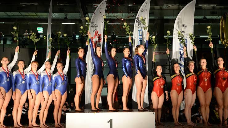 Die Mannschaft Aargau 1 holt sich den Schweizer Meister Titel in der Kategorie Damen Foto: Flavio Bizzozzero