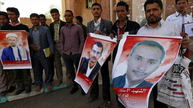 Kundgebung im Gedenken an die Opfer des Terroranschlags in Sanaa