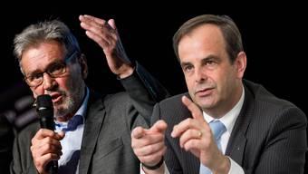 Roberto Zanetti (l) erhält Unterstützung von Gerhard Pfister.