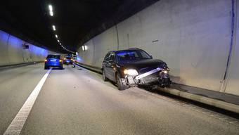 Infolge eines Verkehrsunfalls im Chienbergtunnel kam es zu Verkehrsbehinderungen. Verletzt wurde niemand.