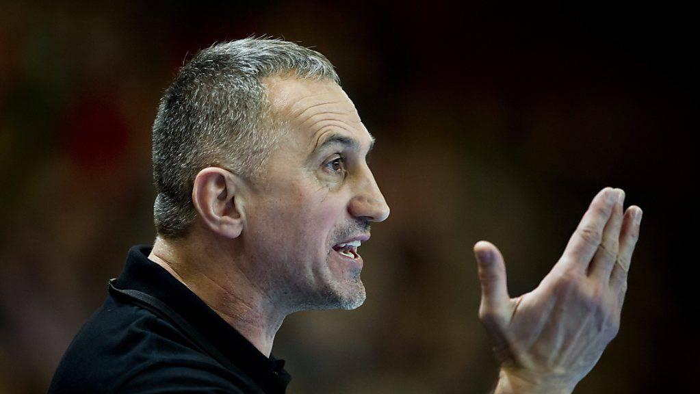 Goran Perkovac ist mit Kriens-Luzern auch nach dem Schlagerspiel gegen Kadetten Schaffhausen noch verlustpunktlos