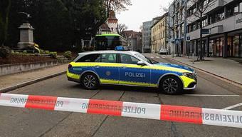Die Bismarckstrasse im deutschen Waldshut war wegen einer Bombendrohung gegen das Amtsgericht Waldshut gesperrt.