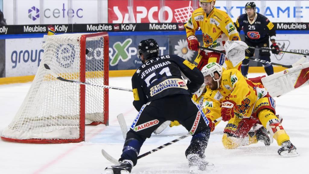 Unwiderstehlich: David Desharnais schiesst das Siegtor für Fribourg-Gottéron gegen Biel