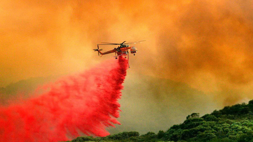 Ein Löschflugzeug im Einsatz gegen Buschbrände. (Symbolbild)